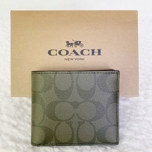 NWT Coach Signature ID Billfold Wallet
